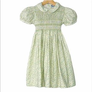 Carriage Boutique Smocked Collared Toddler Dress